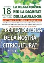 Almenara :: L'Ajuntament d'Almenara recolza les mobilitzacions en defensa de la taronja