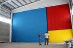 Almassora :: Homenaje a la pintura de Mondrian en el nuevo pabellón de gimnasia de Almassora