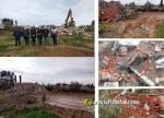 Burriana :: L'Equip de Govern es va fer fotos en Golf Sant Gregori mentre l'excavadora trencava trossos de fibrociment